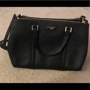 Kate Spade Black Leather Work Bag